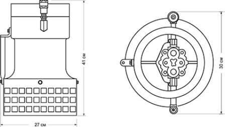 Габаритные размеры помпы S6P для МЧС